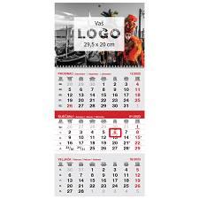 Kalendar 2022 TRODJELNI  sivo-crveni