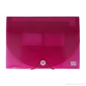Mapa harmonika A4+ 12 pregrada 405673 roza