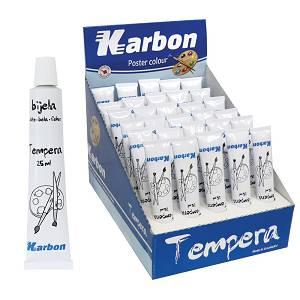 Tempera bijela Karbon 25ml