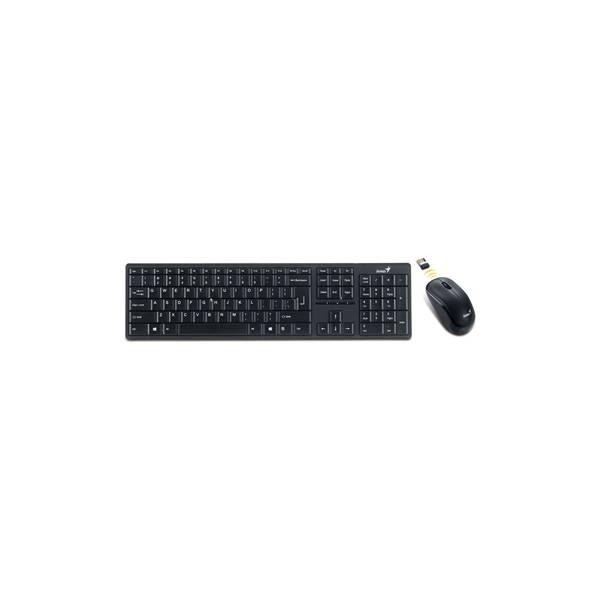 Bežična tipkovnica + bežični miš Genius Slimstar 8000ME, USB